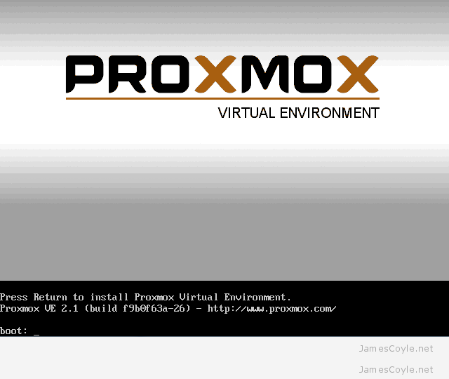 Install Proxmox – JamesCoyle net Limited