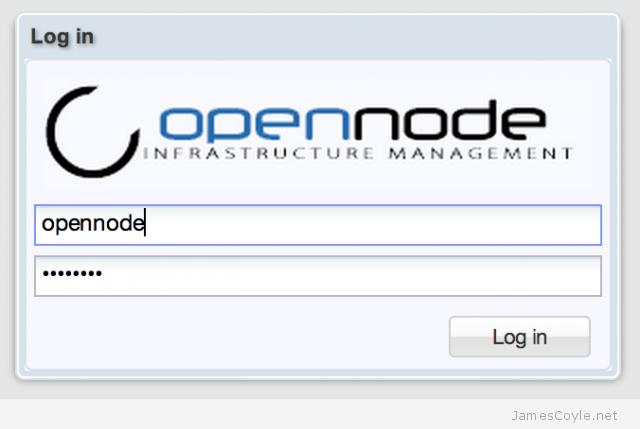 opennode-login-screen