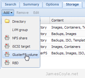 proxmox add storage