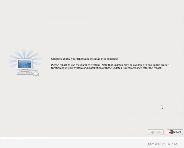 OpenNode Install Screen 11