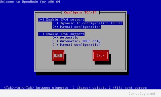 OpenNode Install Screen 2