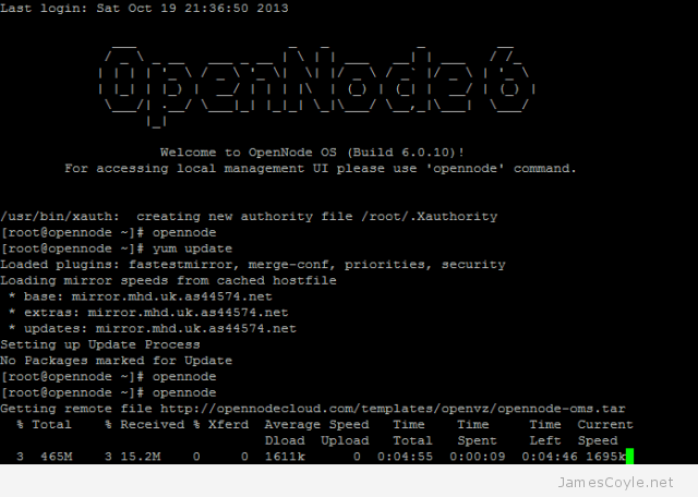 OpenNode TUI OMS downloading