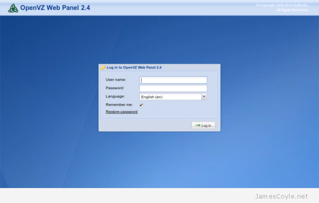 Installing the openvz web panel for Download openvz templates