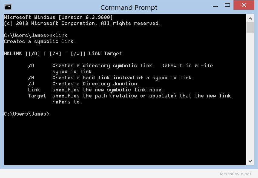 mklink-command-prompt